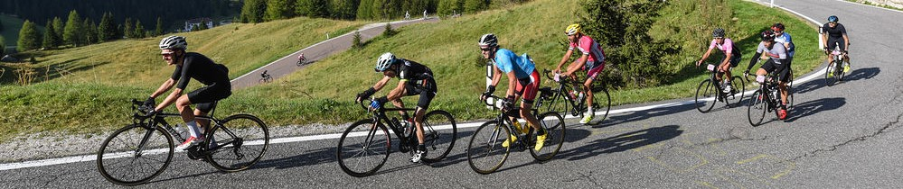 riders in the Dolomites Haute Route