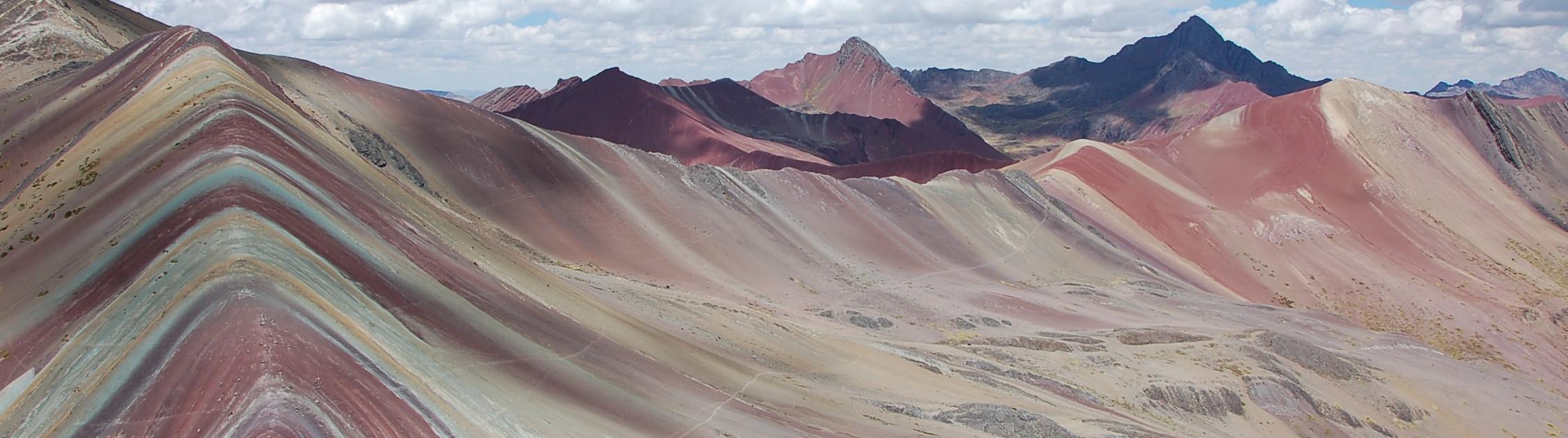 colouful mineral mountains, Ausangate Peru