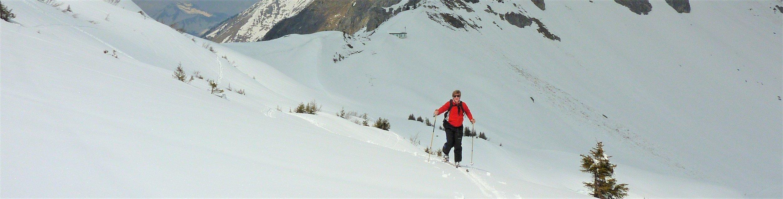 ski touring France Swiss border