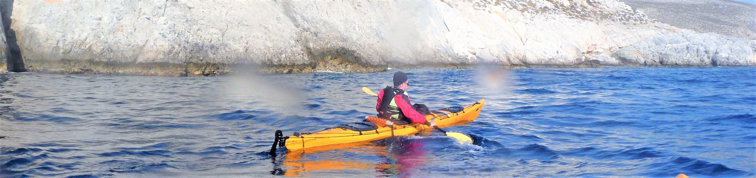 kayaking off Kalymnos, Greek Islands
