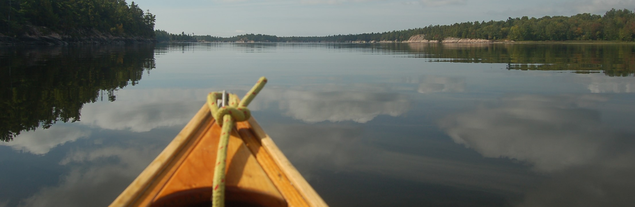 A canoe on the French River in Canada