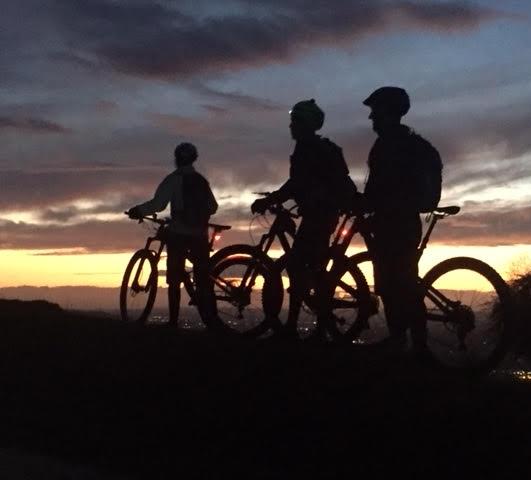 Into night and beyond, Team RAF 100 mtb training