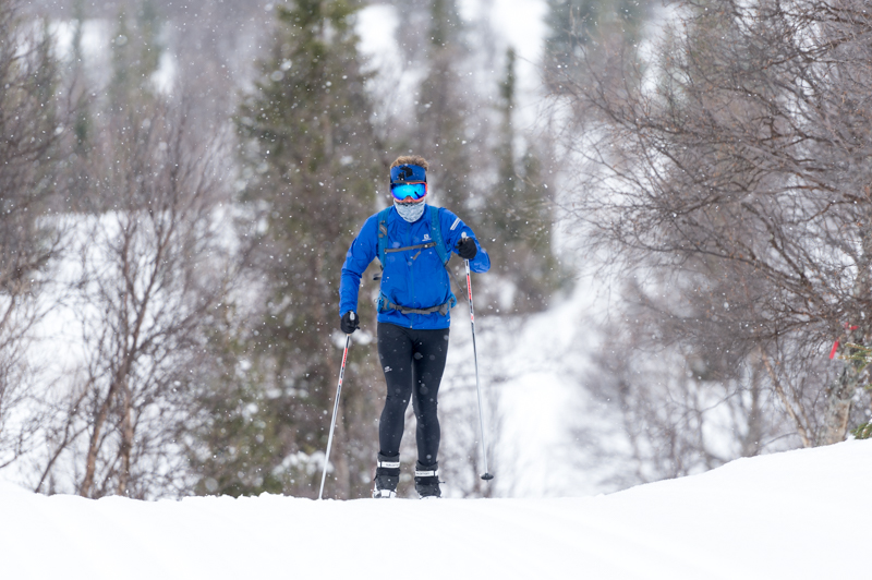 Battling the weather on cross-country skis