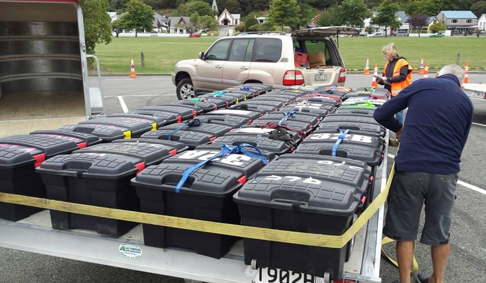 Kit boxes at the ready - photo GodZone