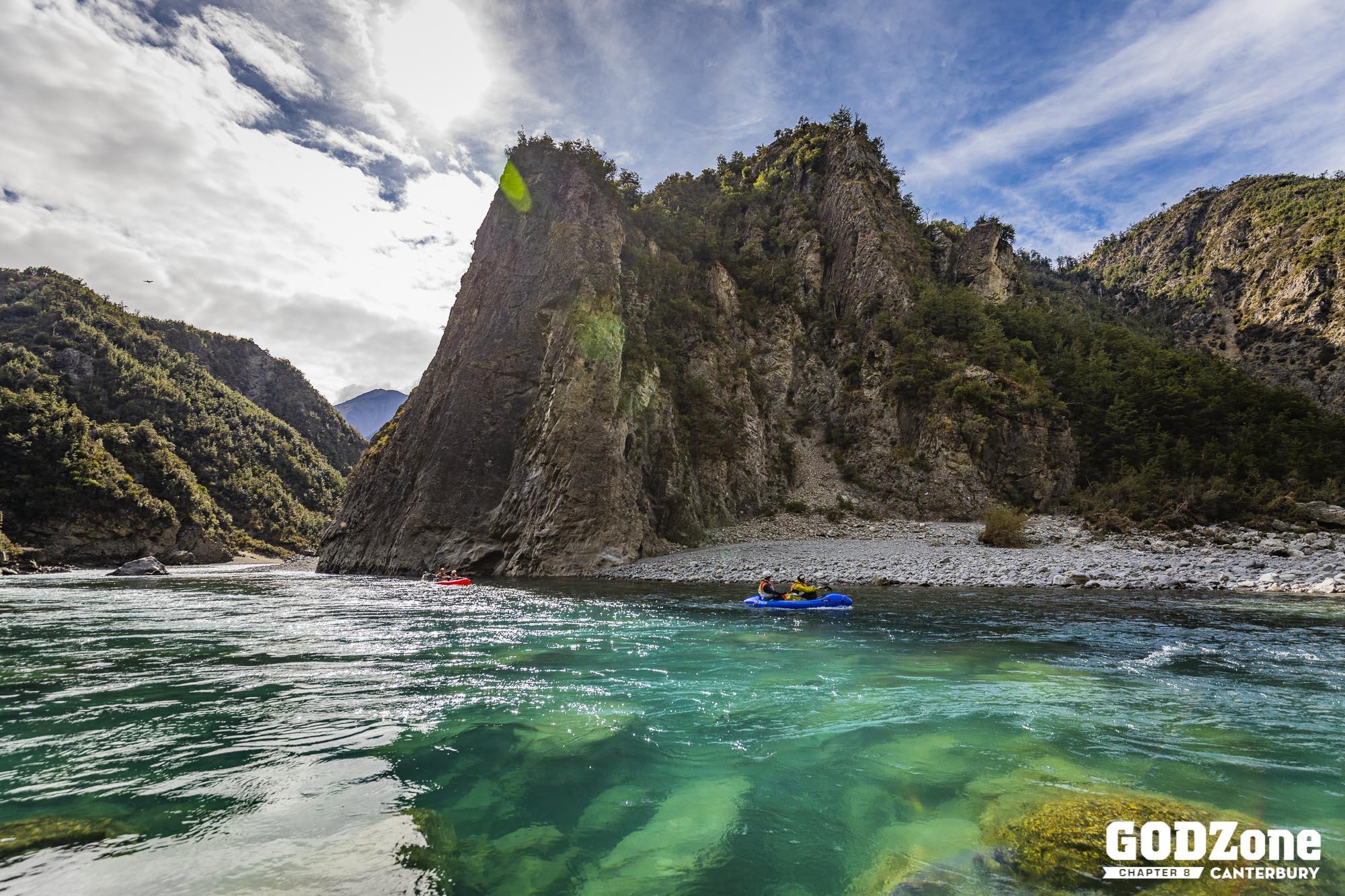 Day 2 : Paddling the Poulter River - photo GODZone, Alexandre Socci