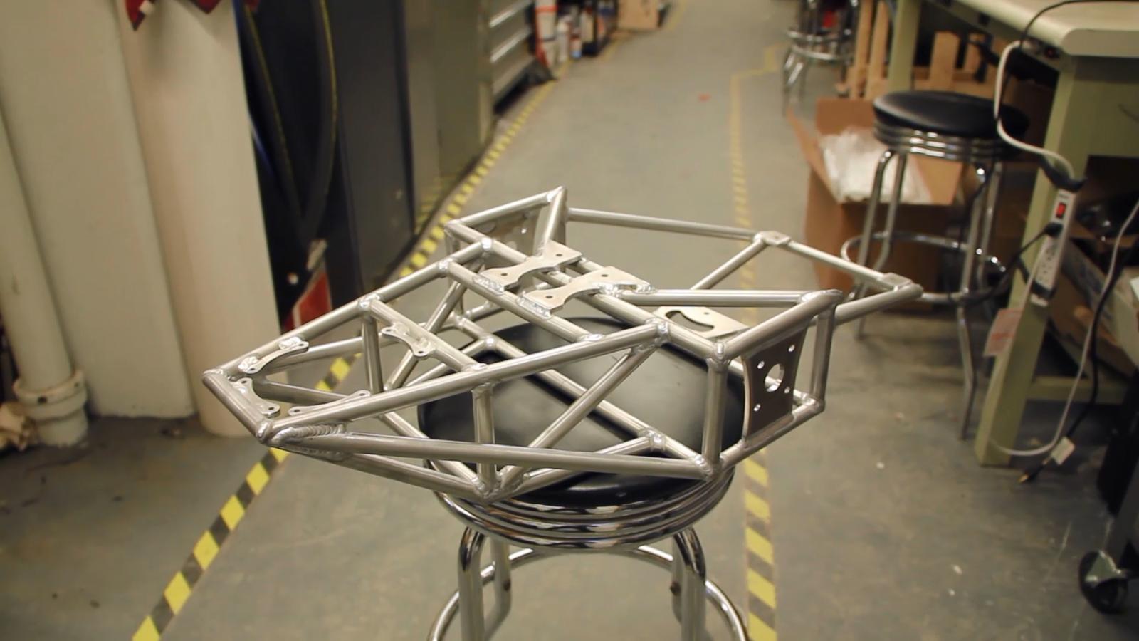 Our welded aluminum frame.
