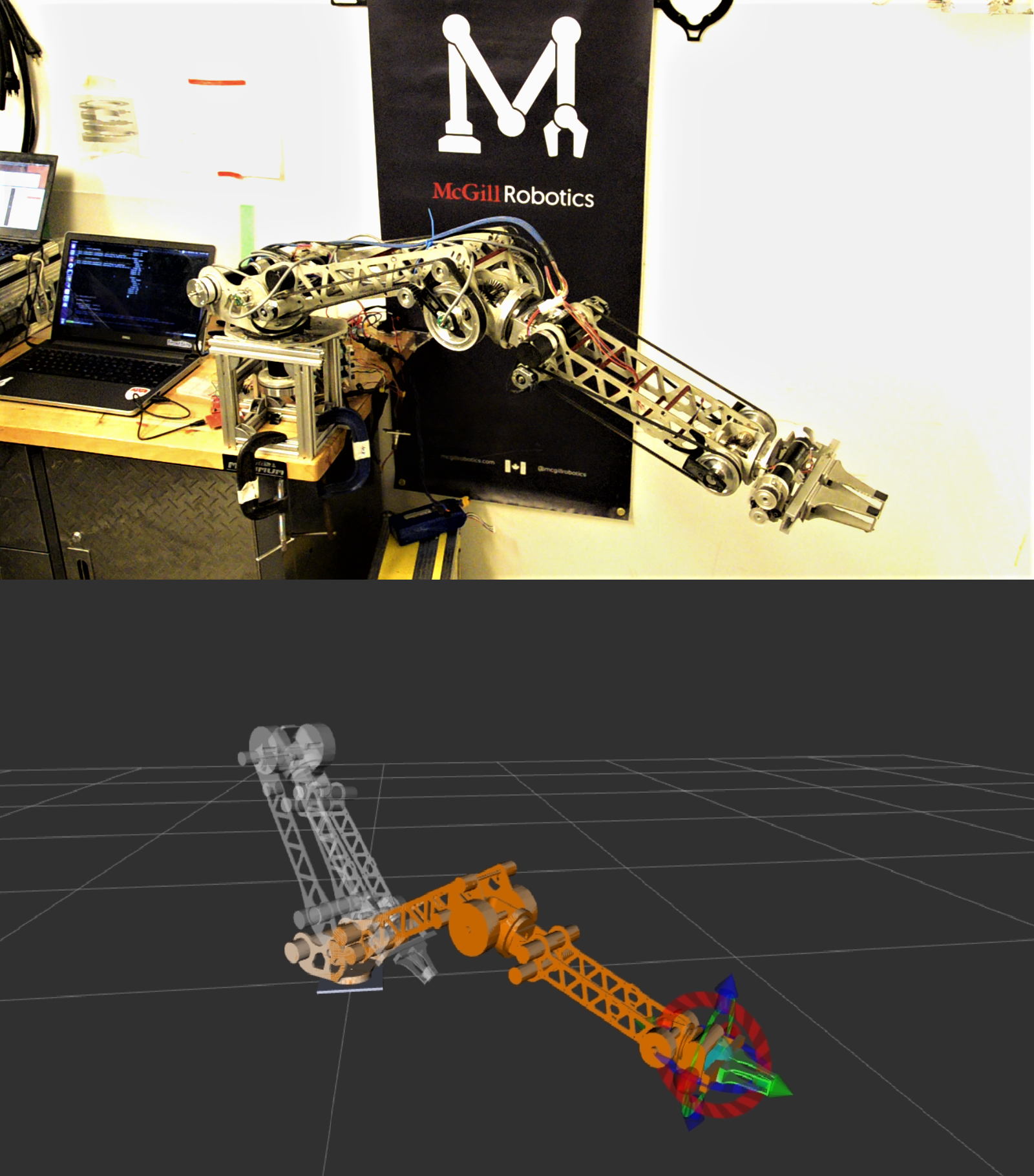 Thanks to encoder feedback and control loops, controlling the arm based on the position of its end-effector eases the accomplishment of competition tasks.