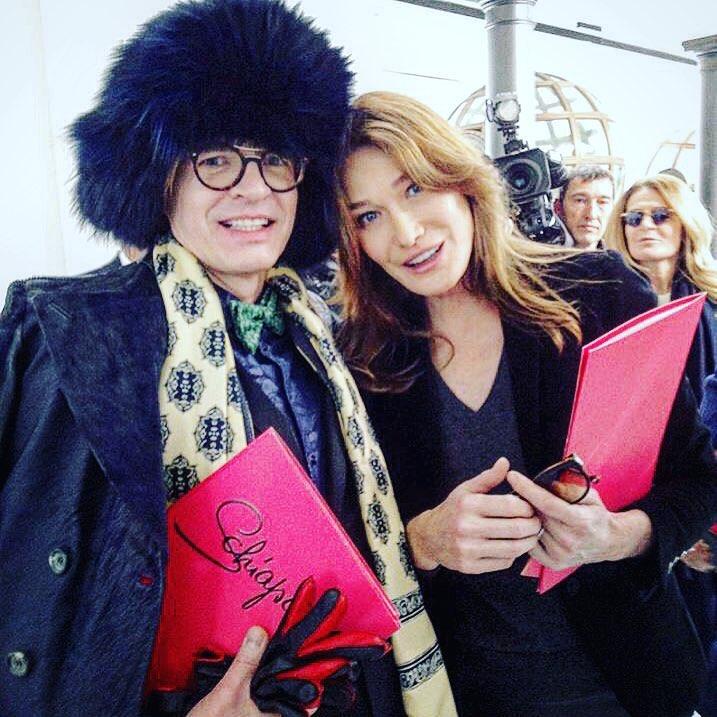 with Carla Bruni