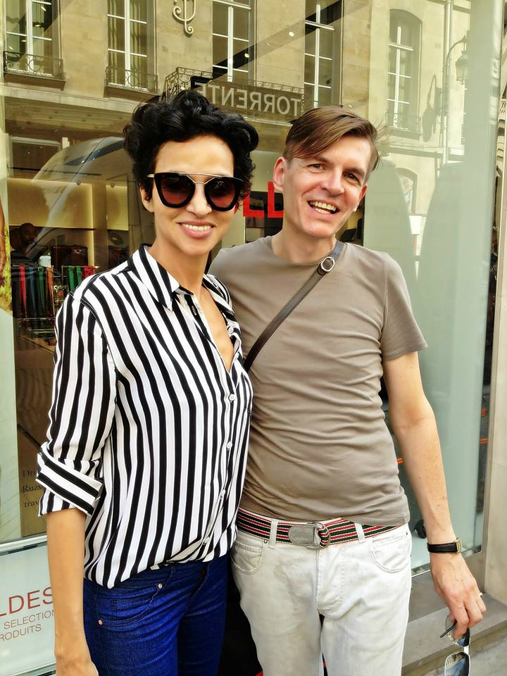 with Farida Khelfa