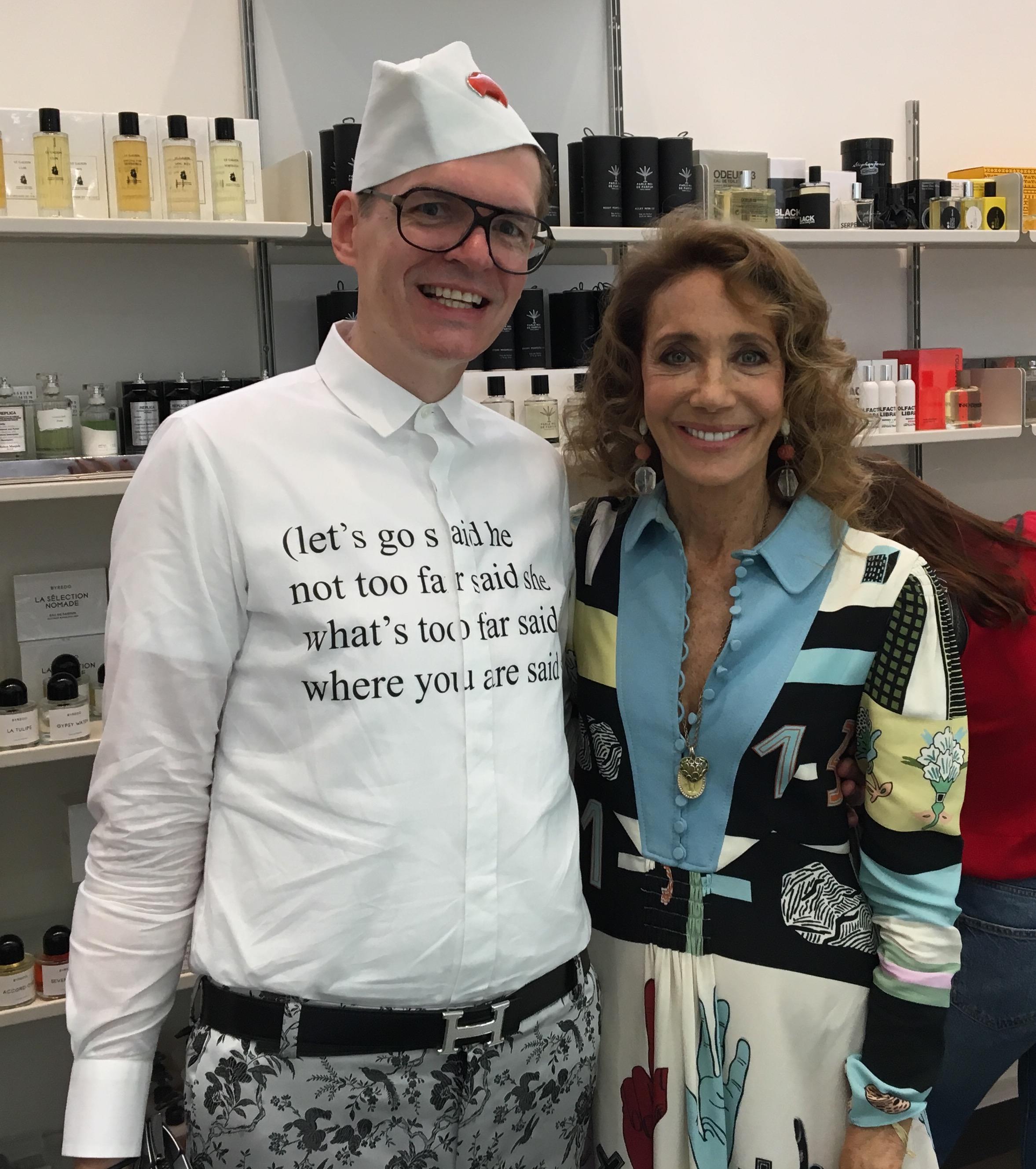 with Marisa Berenson