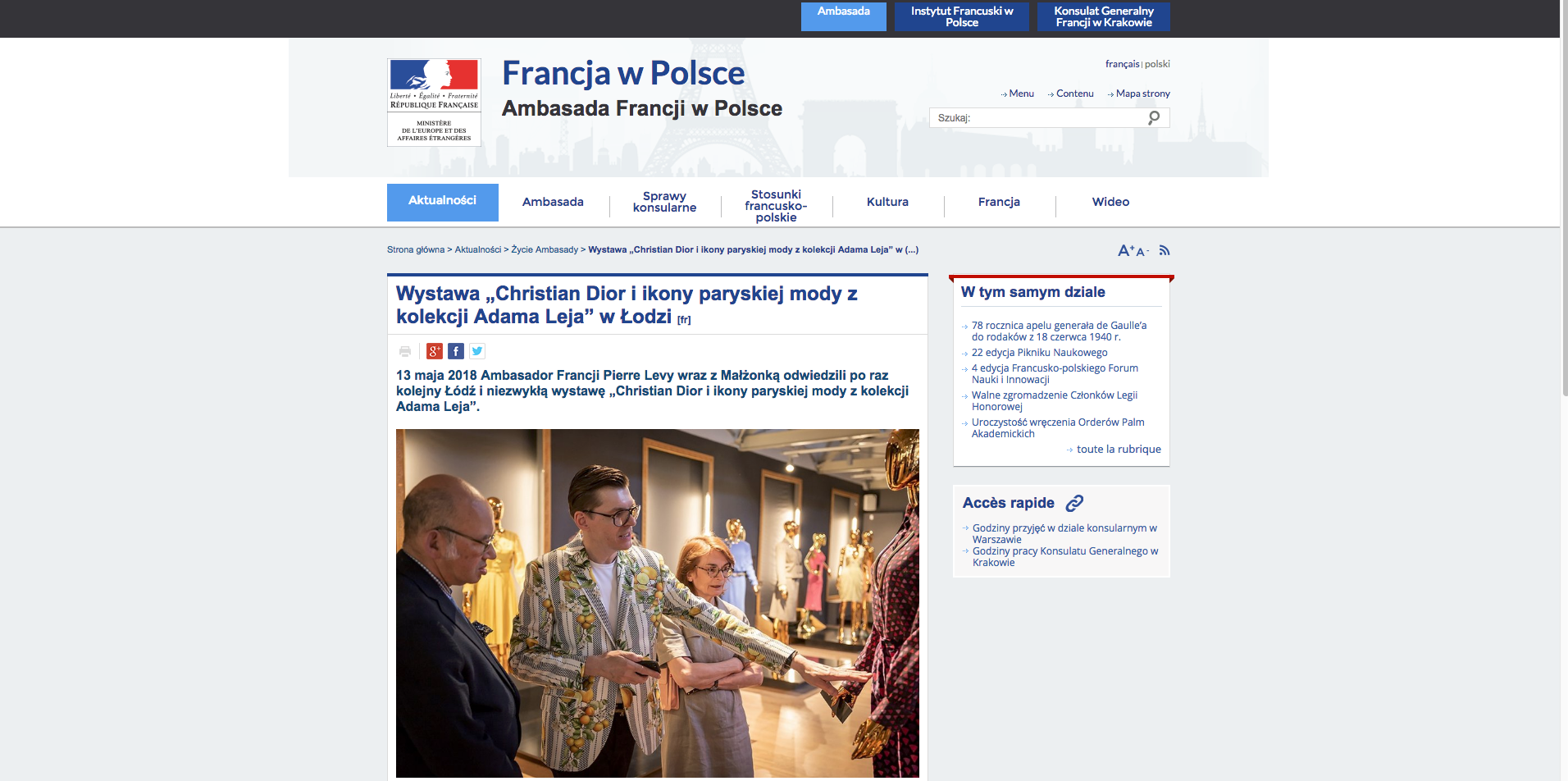 FRENCH EMBASSY - LINK: