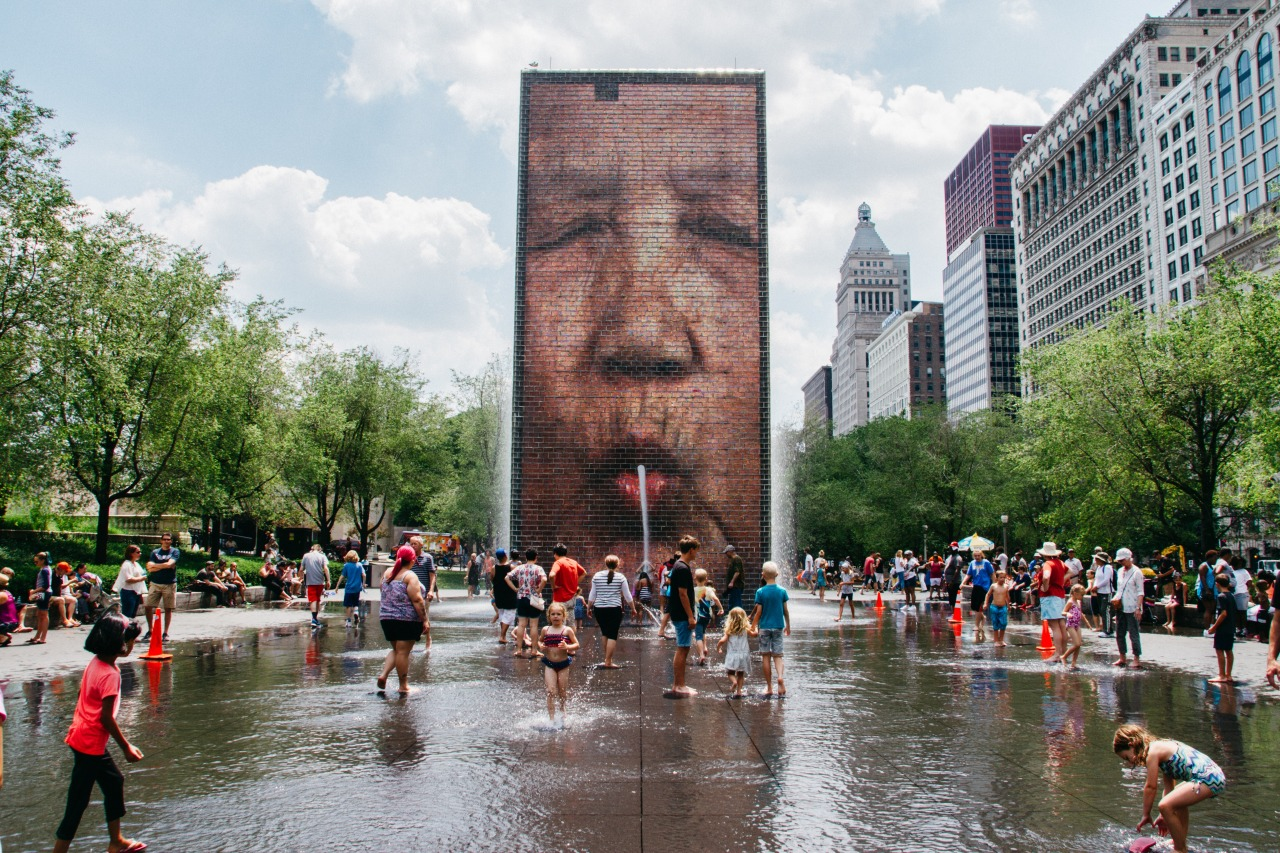 La Crown Fountain de Chicago (photo: Ben Orlansky)