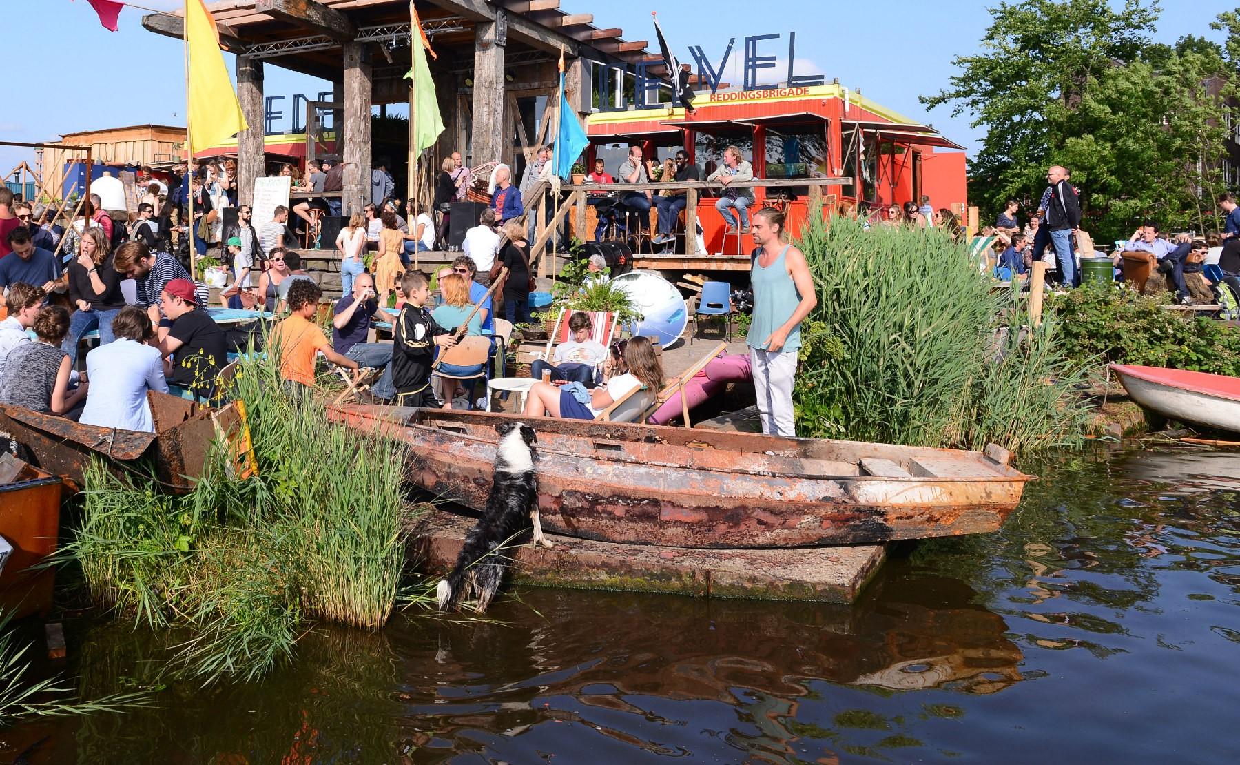 De Ceuvel à Amsterdam, un quartier sur l'eau