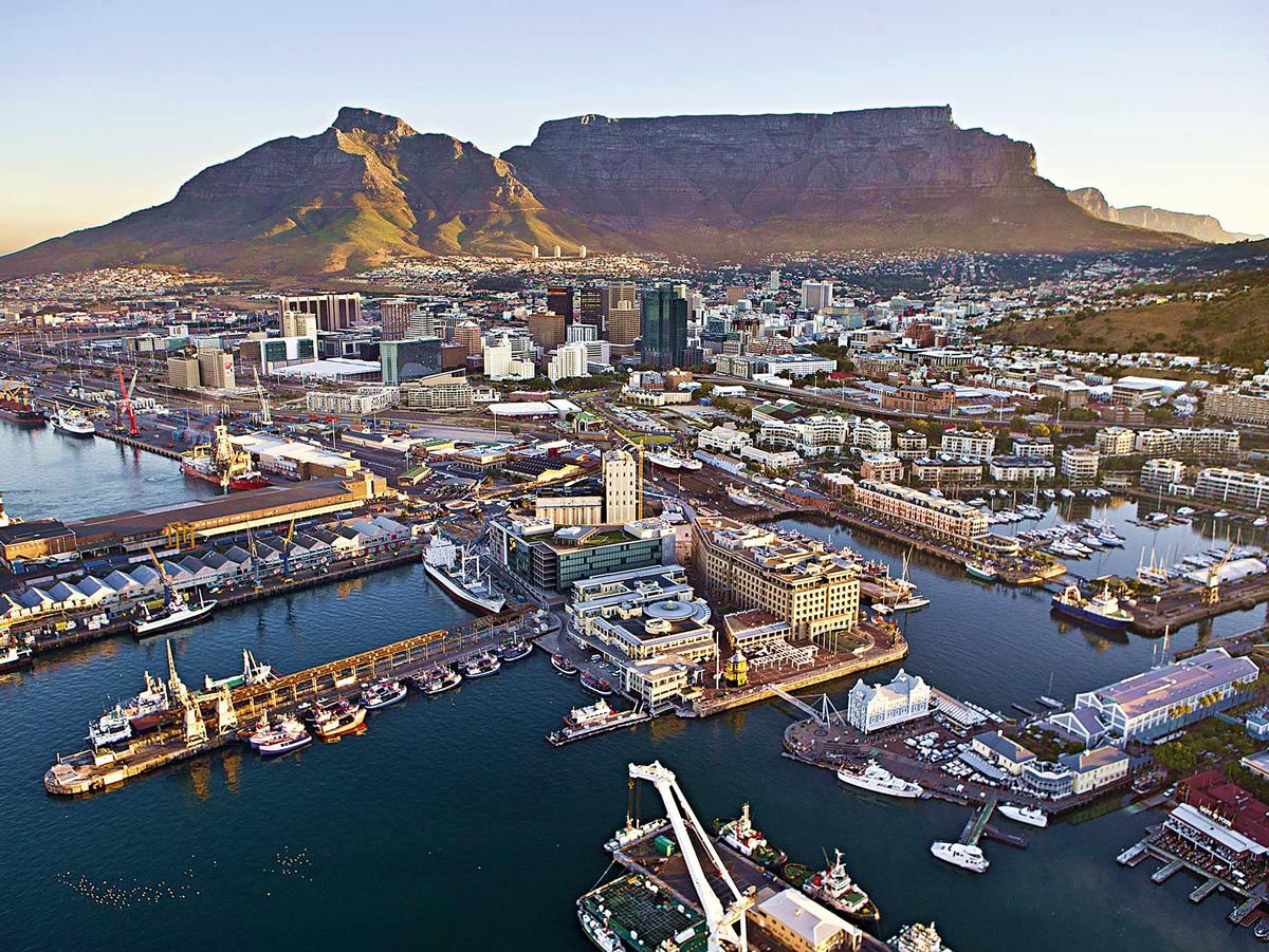 Le V&A Waterfront à Cape Town, une des premières villes du monde à connaître une pénurie d'eau