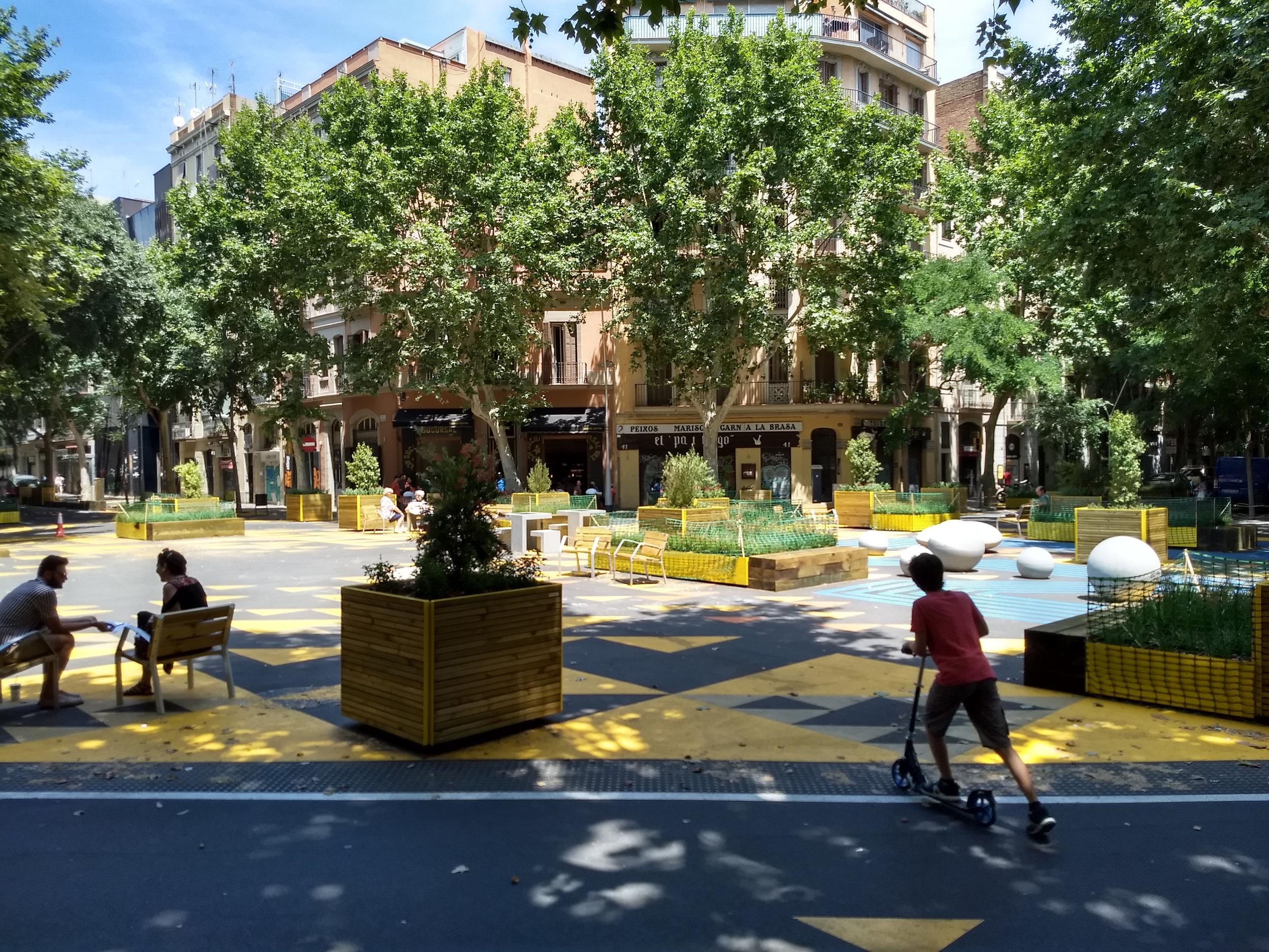 Le projet Super-Blocks à Barcelone (photo de Ioana Valero)