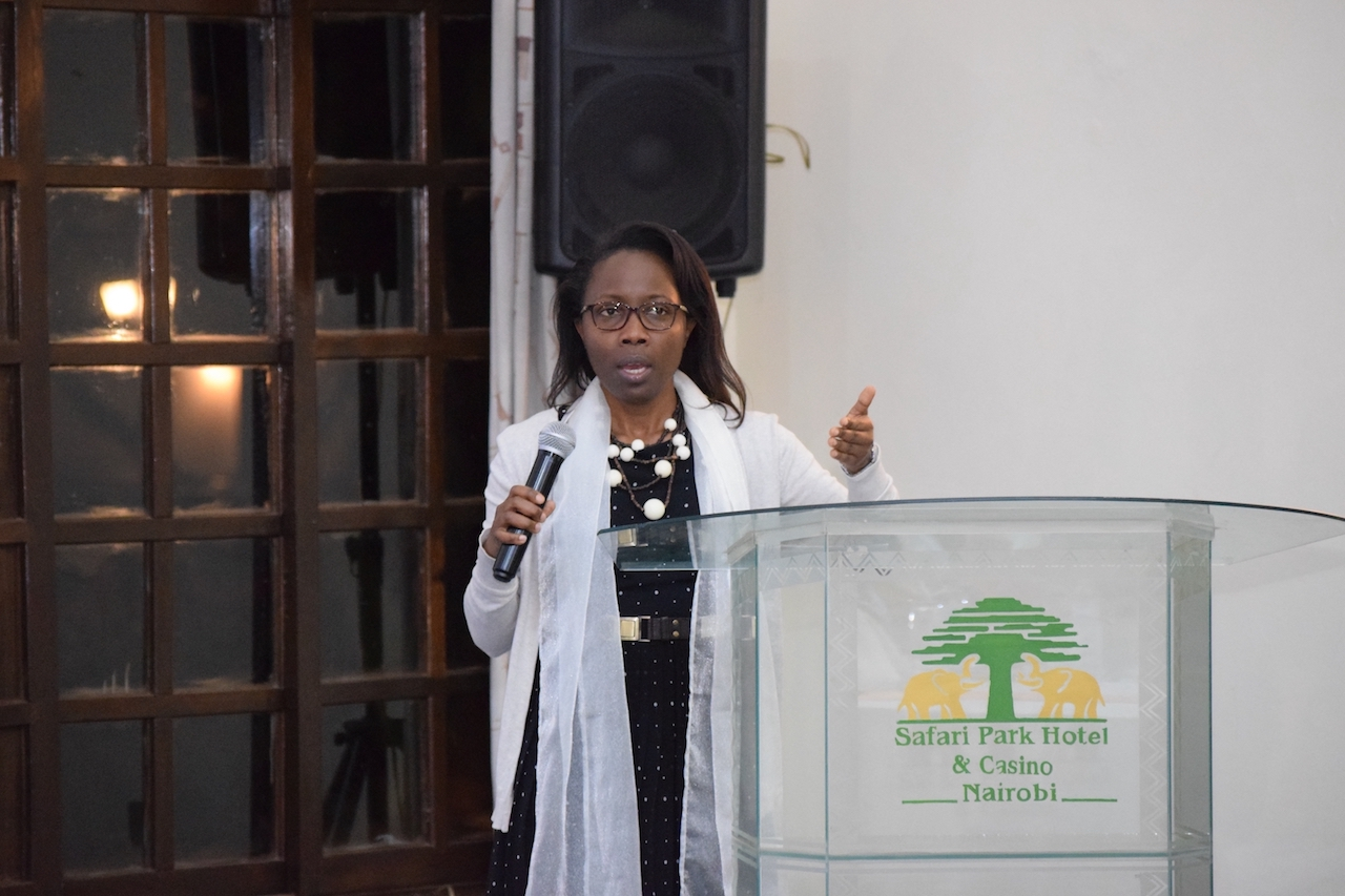 Lilies Njanga, Manager, Childhood / External Engagement and Communications – CIFF addressing the session