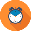 Alarm clock Icon made by  Madebyoliver from www.flaticon.com