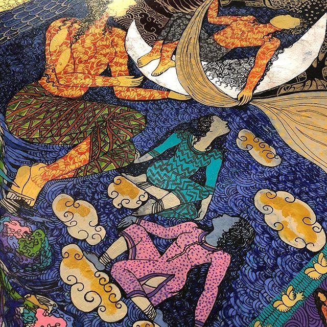 Work in progress .... #thegoldenwomb #seemakohlistudio #illustration #goldleaf #yogini #acryliccolors#art_empire#artistsoninstagram #artistlife