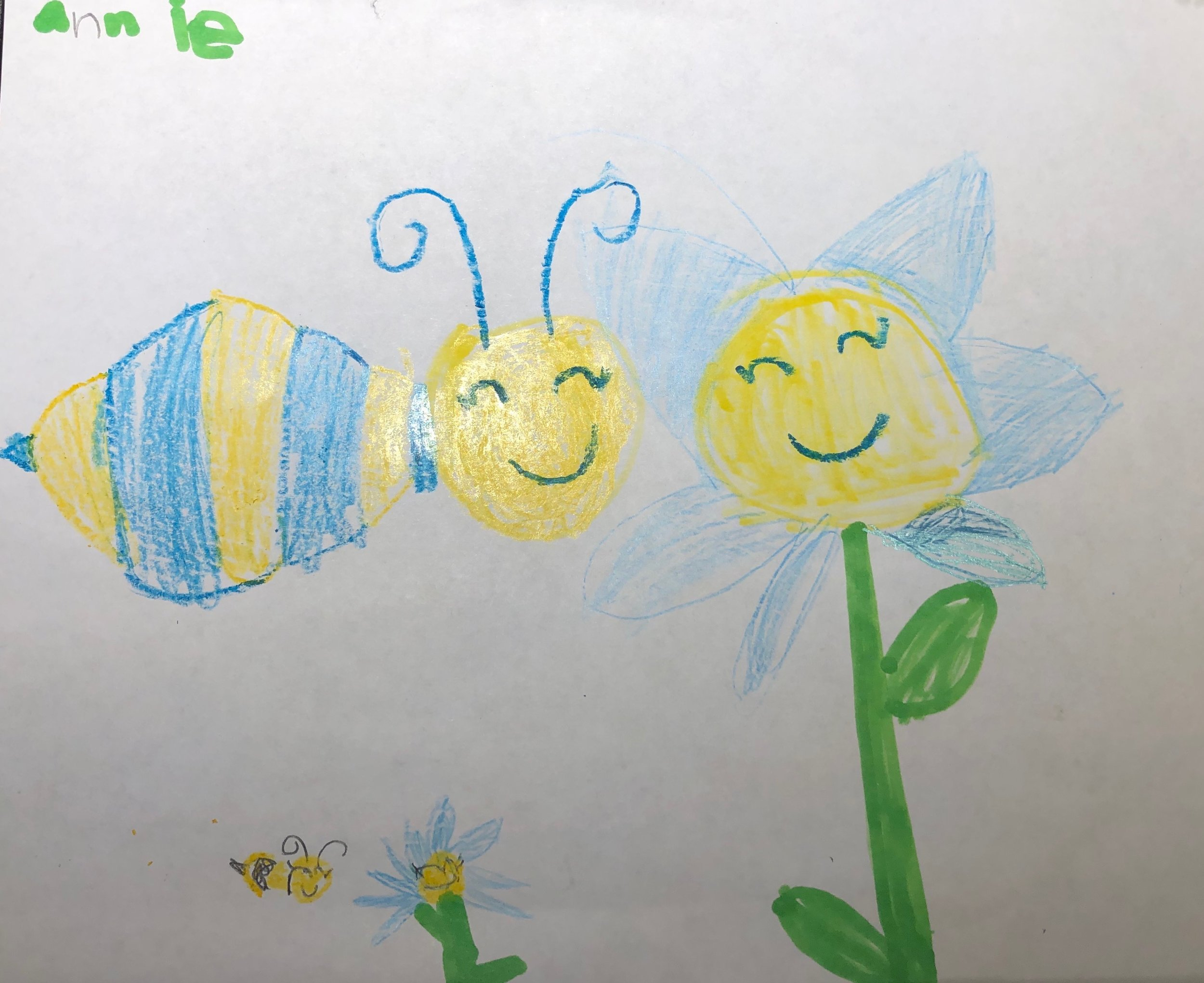 Happy Flowers and Bees by  Annie Cook