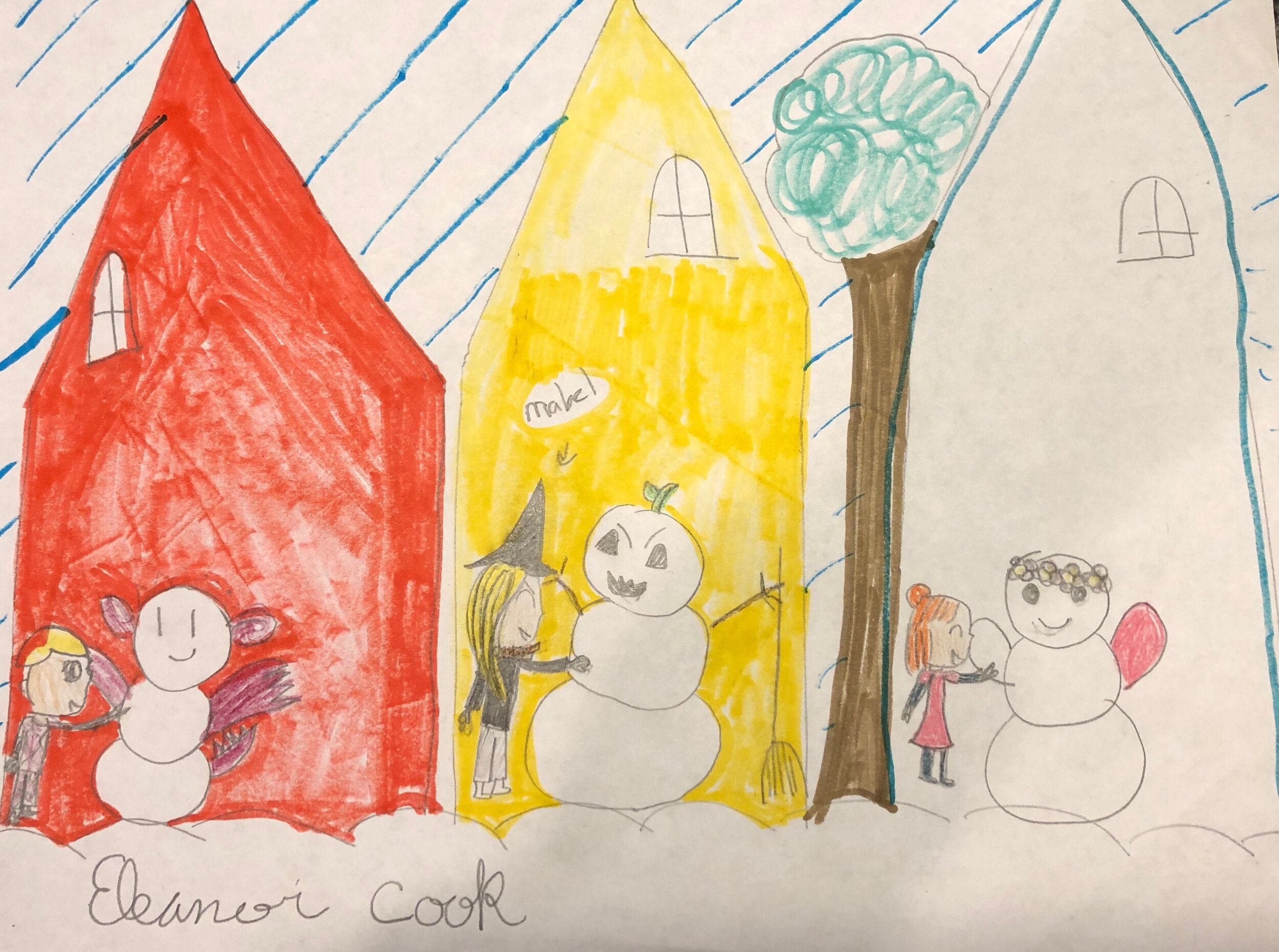 Mabel Makes her Snow Monster by  Eleanor Cook