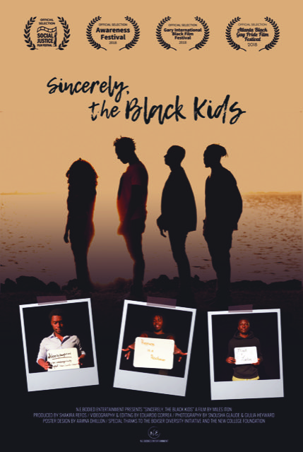 Sincerely, the Black Kids - An award winning short film by Miles Iton, Shakira Refos and Eduardo Correa documenting the trials, tribulations and triumphs of black student leaders across the country: