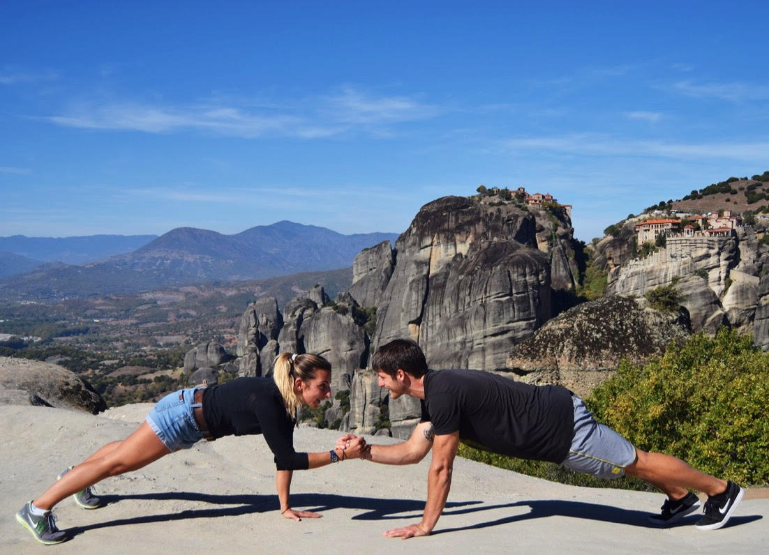 Adding in a little training when we travel :) Beautiful Meteora