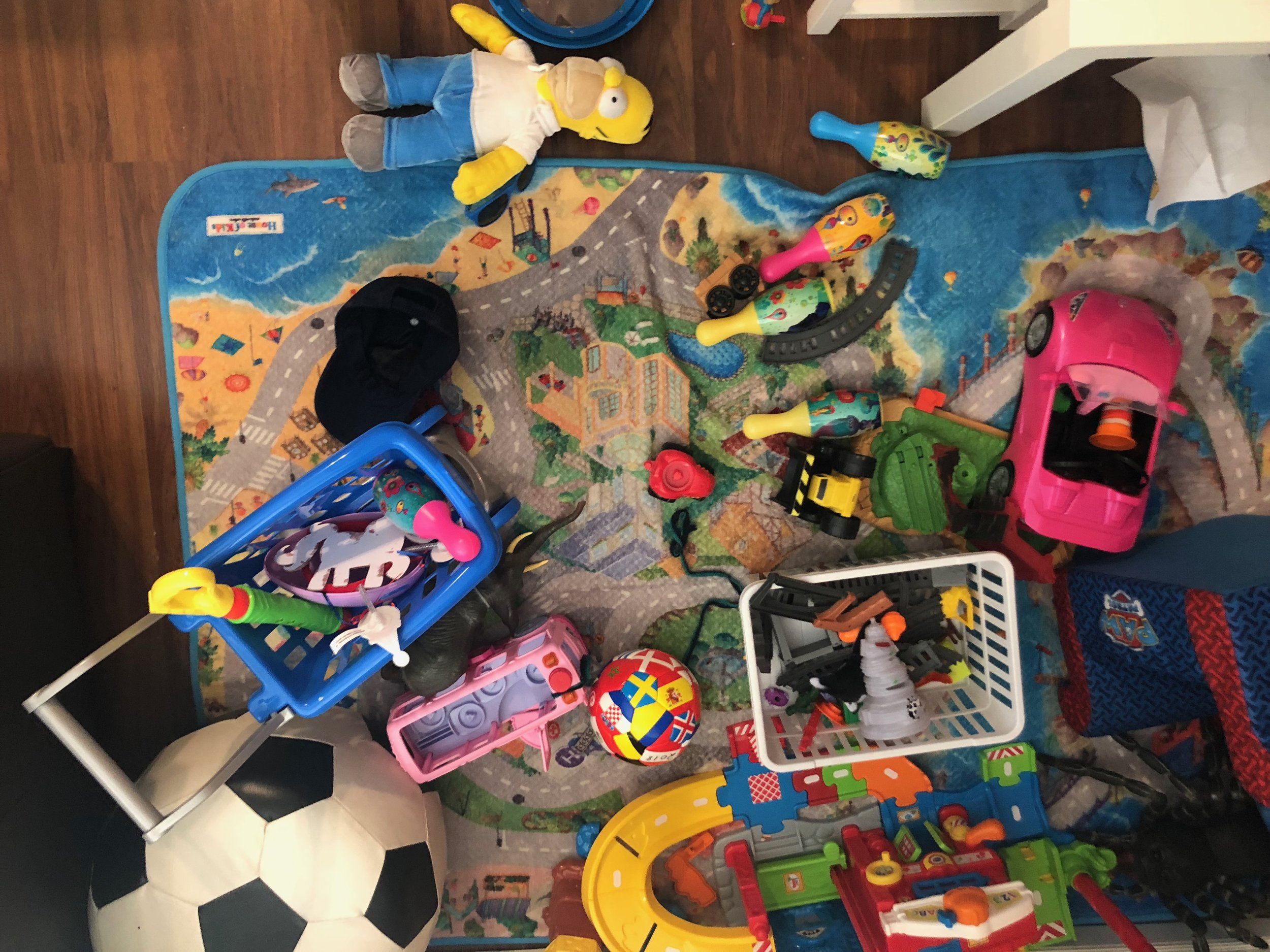 Where to begin… - Start by getting rid of the things no one will notice are gone. It's also best to do this process when the kids are out, or asleep ;)