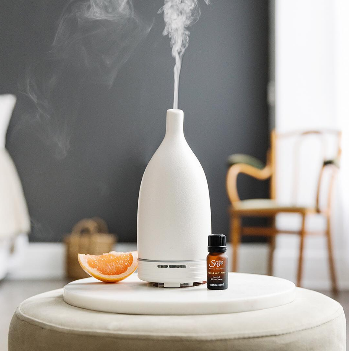 Diffuser - Diffusing kid friendly essentail oils, and even applying the oil topically on the bottoms of feet (I like to mix ours with a little lotion as well).A couple of my favourite blends, Doterra's On Guard, or Saje's Immune Antibacterial Esential Oil