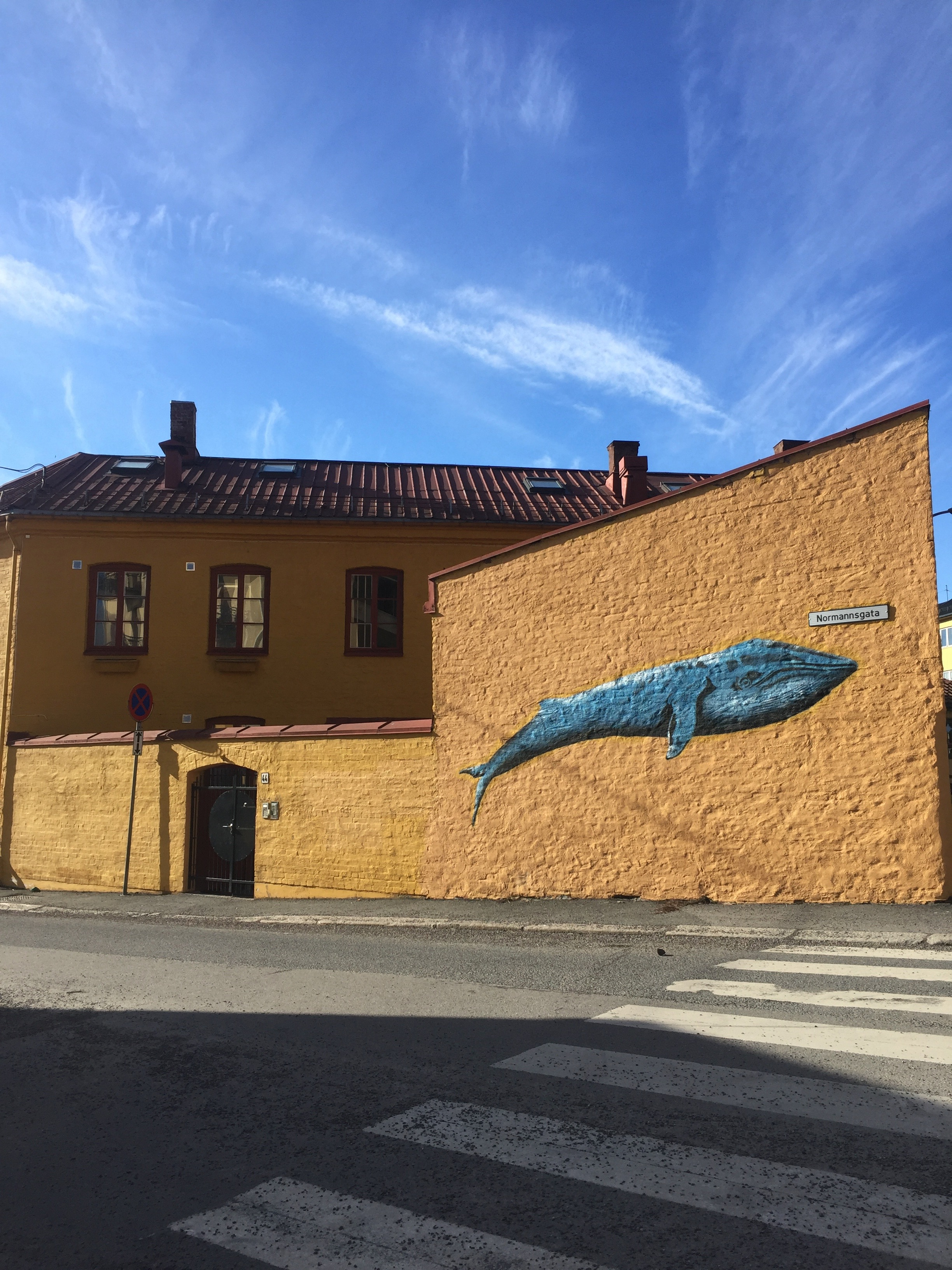 Photo: The whale on the wall, Kampen, Oslo, Norway Photo by: Ingrid S. Nyhus