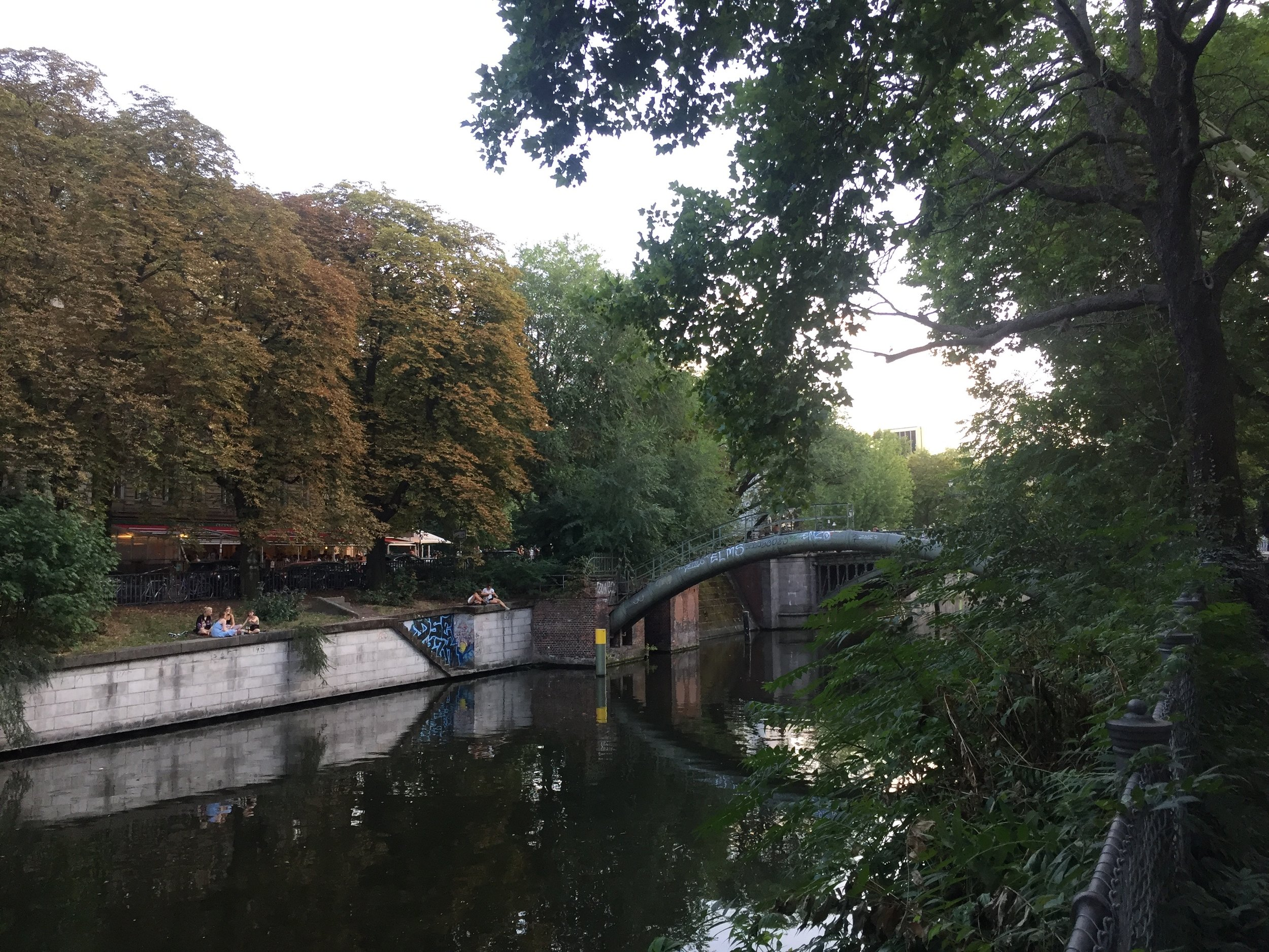 Zen walks absorbing the atmosphere of Kreuzberg by the river.