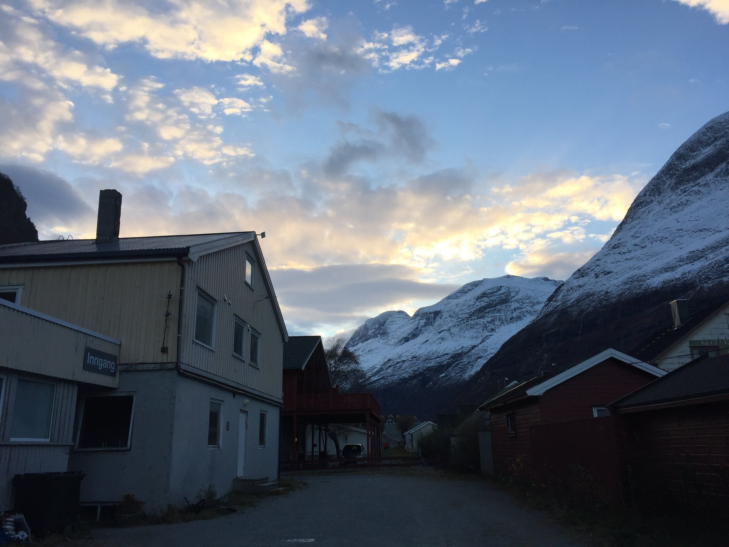 The view from the dance studio, in the middle of Sunndalsøra. Photo: Ingrid S. Nyhus