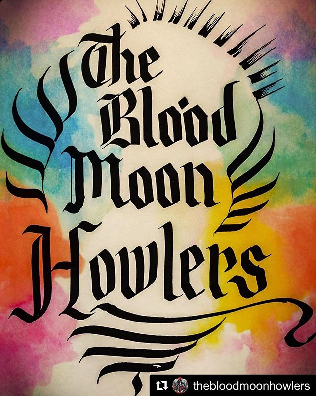All we can say to this is #WOW @bloodmoonhowlers coming to @fieldtrippinfest OCT 18 & 19 @hotellunamystica #thebedouintent #Repost @thebloodmoonhowlers with @get_repost ・・・ Thank you for the artwork @katspecial 🙌💚 #thebloodmoonhowlers