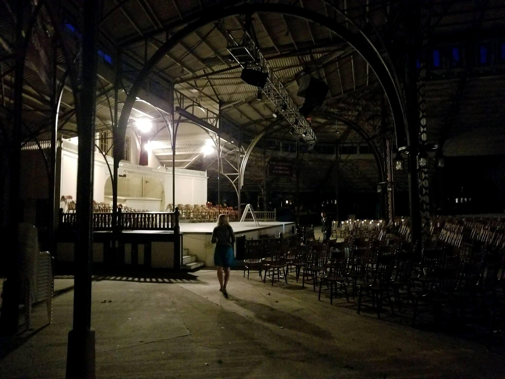 Tabernacle, creepy by night.