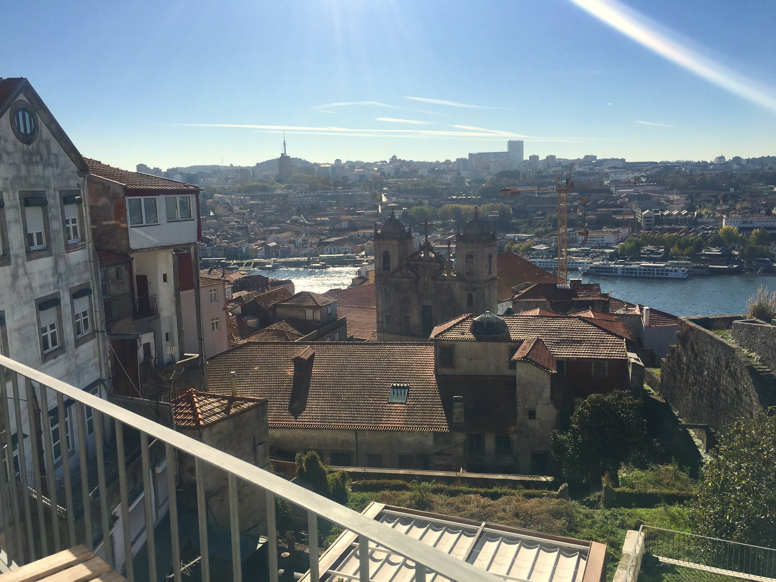 The view from our apartment in Porto