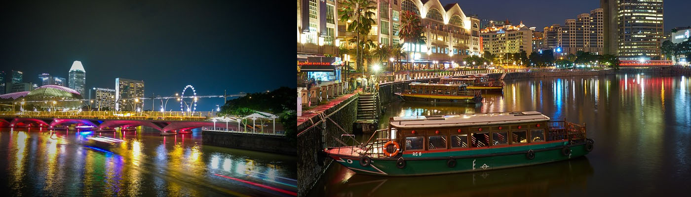 Sunset Cruise from Merlion Park to Clarke Quay - see the city light up!