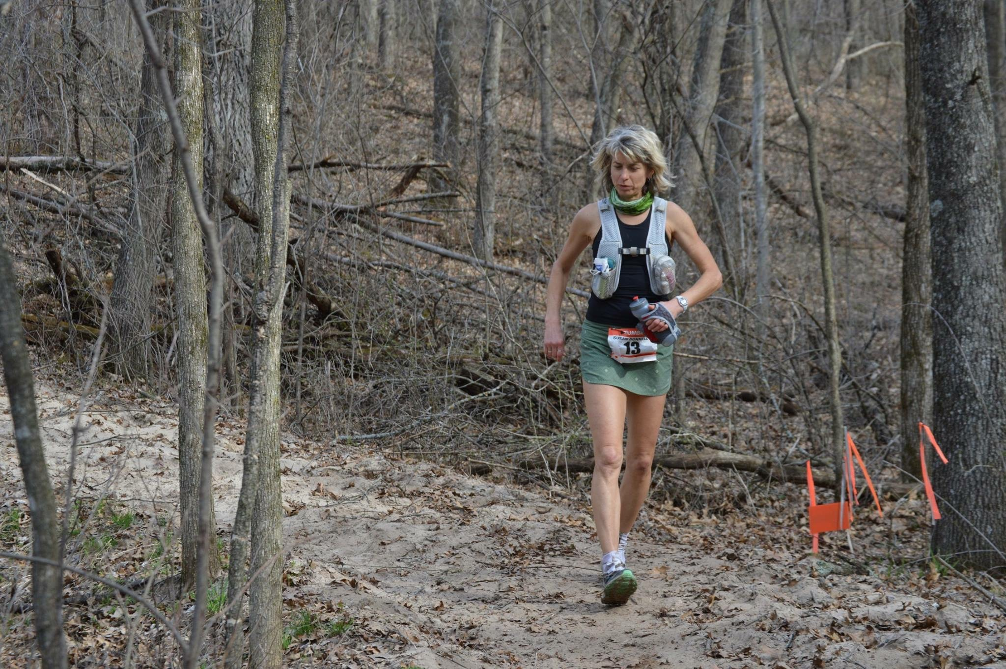 Susan Donnelly runs the mentally tough Zumbro 100 mile ultramarathon