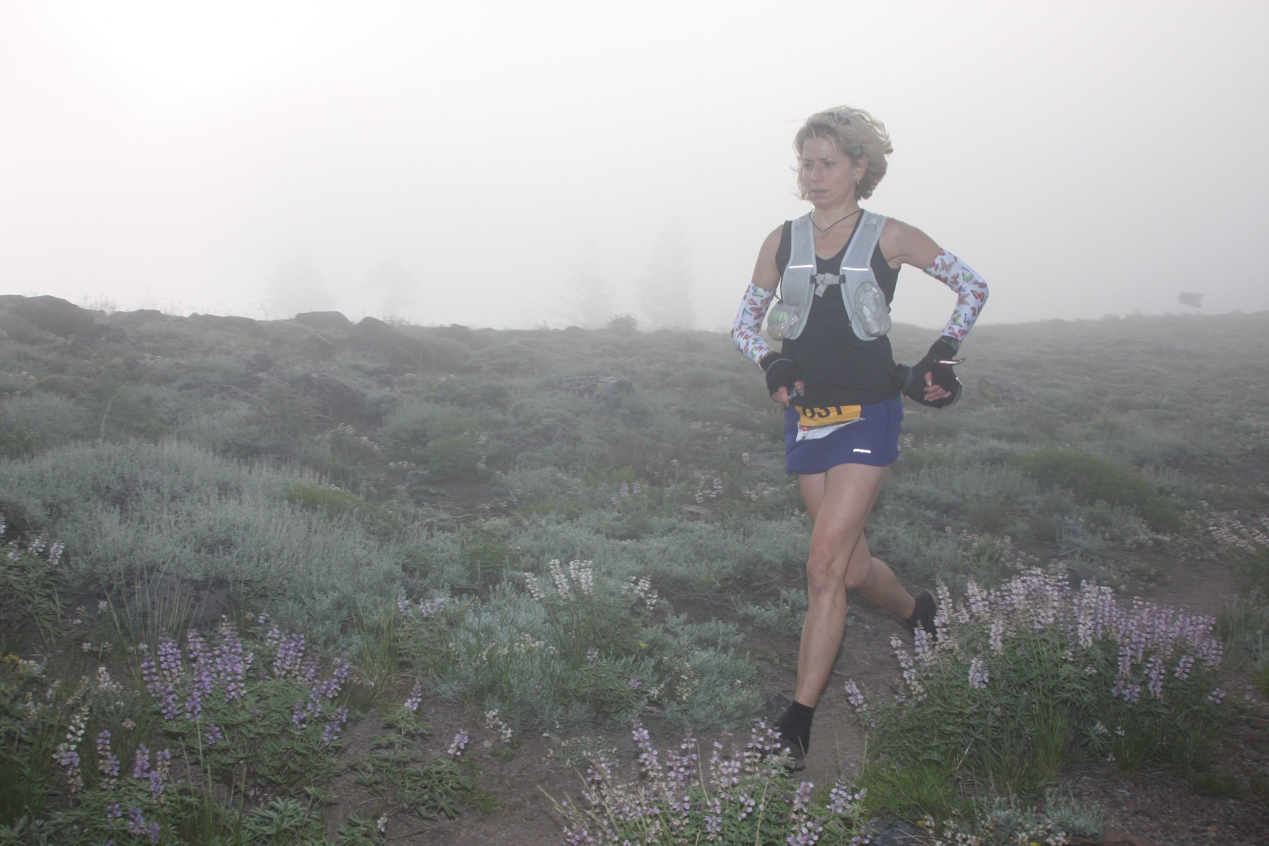 Susan Donnelly running the tough Tahoe 100-mile ultramarathon