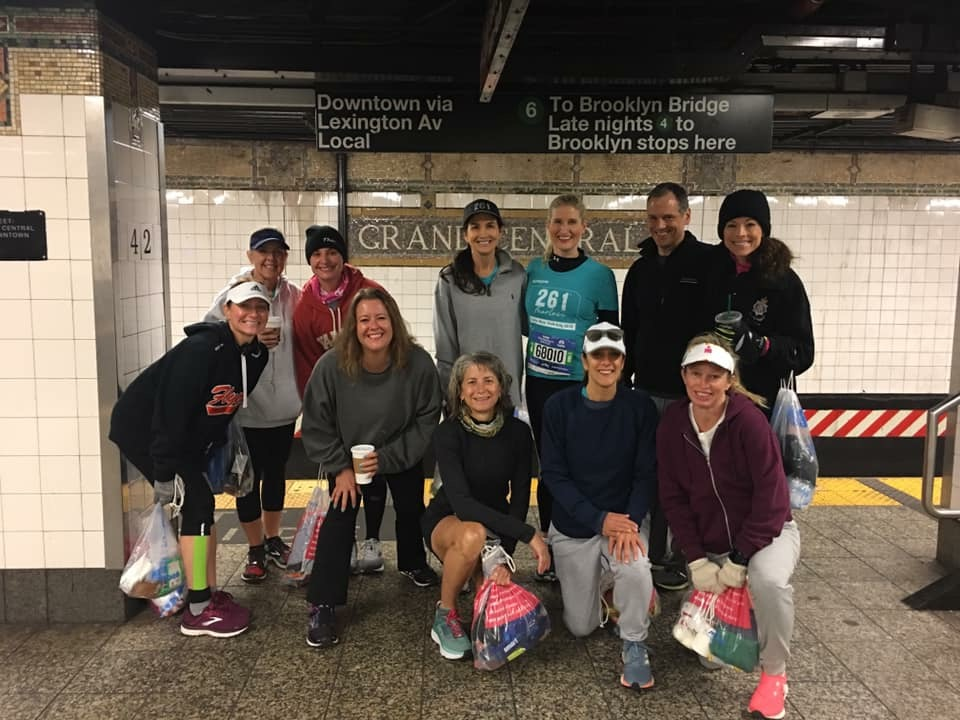 Susan Donnelly and the 261Fearless NYC Marathon team