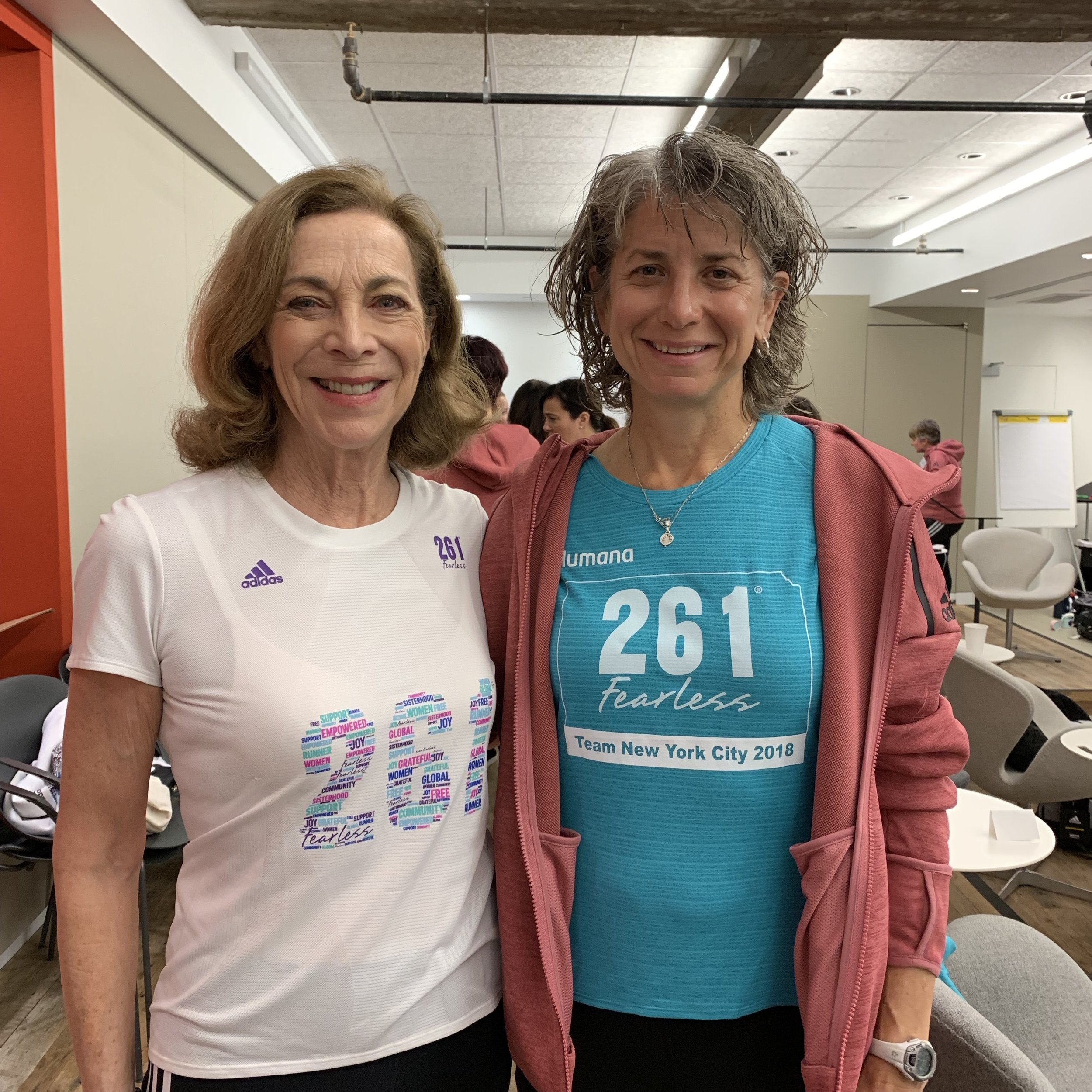 Susan Donnelly with Kathrine Switzer