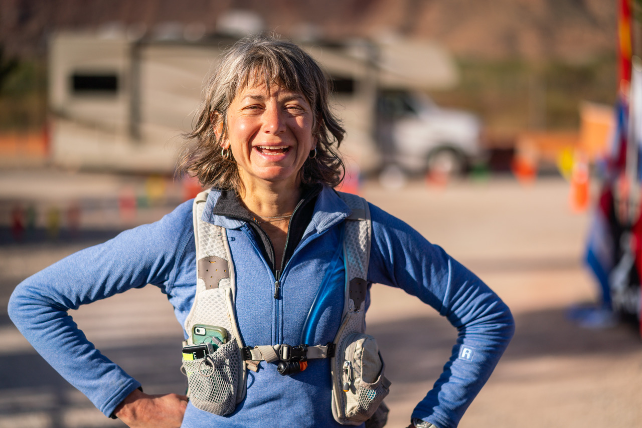 Susan Donnelly finishing Moab 240