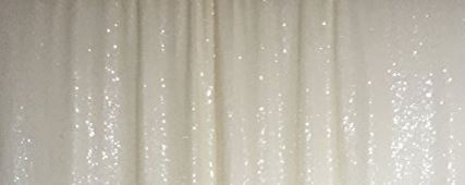 Off White Sparkle Draped Backdrop
