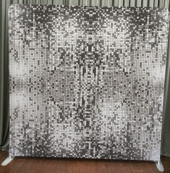 Silver Sparkle Stretch Backdrop
