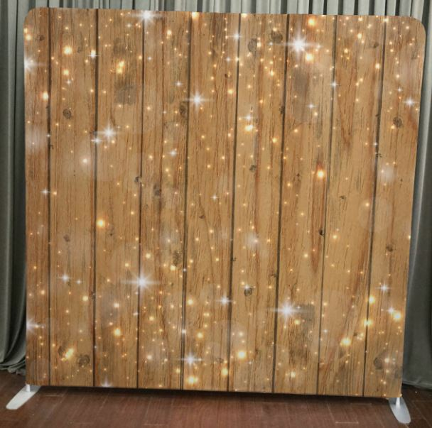 Wood Sparkle Stretch Backdrop