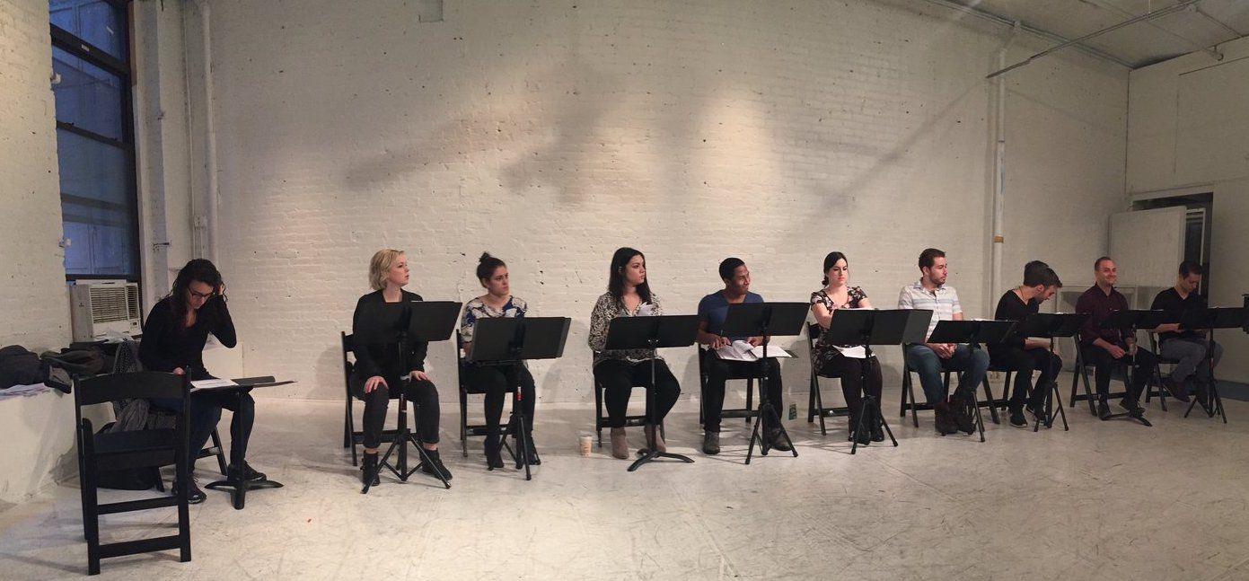 A reading of  Broken City  in December 2016, produced in NYC by Monday Theatre Company and directed by Gina Rattan