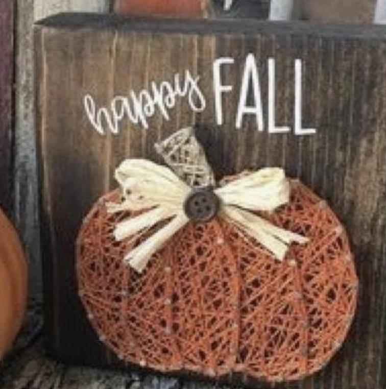 *Sample picture taken from Pinterest. Pumpkin art will be very similar. :)