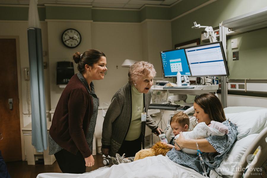 Great Grandma Meets Another New Grandson Macon_Birth_Photographer