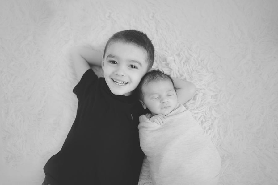Big Brother _Little Brother Newborn Pose