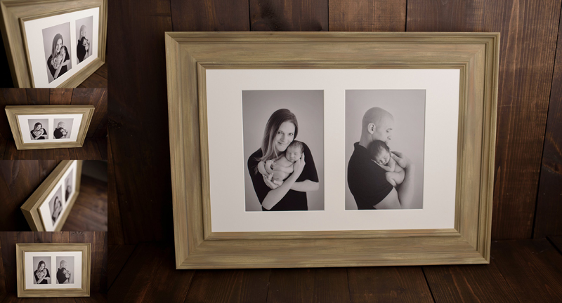 Framed wall portraits offered by local photographer