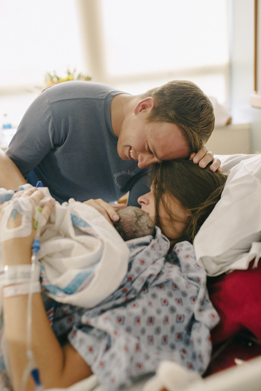 Dad cries over newborn daughter in Warner Robins