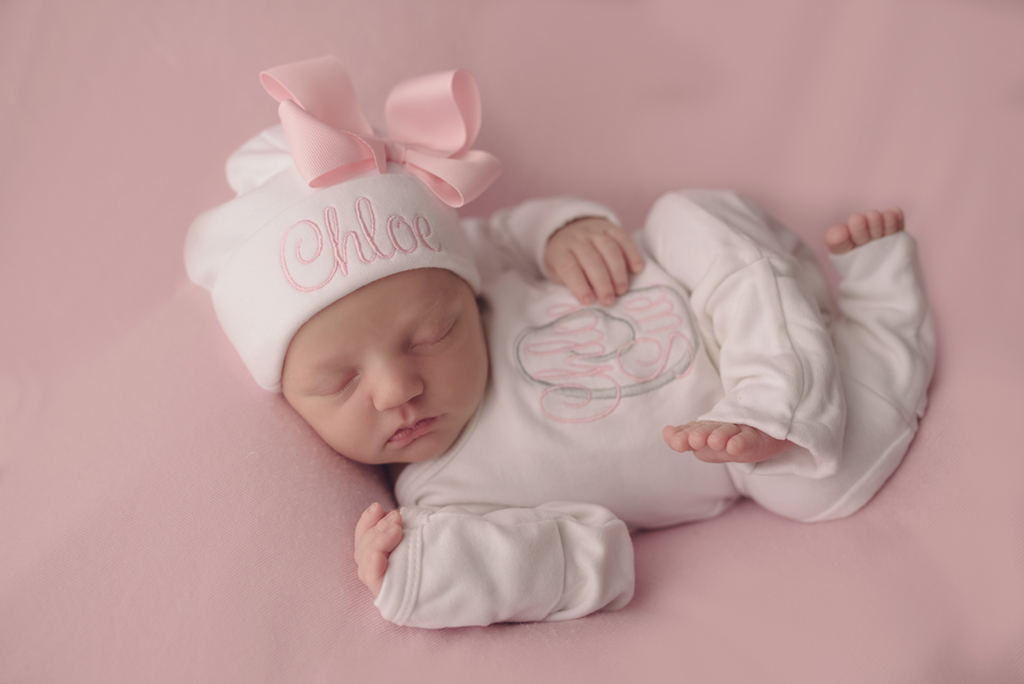Warner Robins Newborn Photography Studio Baby in Pink.jpg